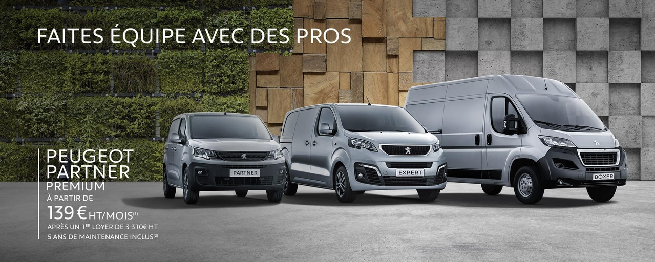Gamme utilitaire Peugeot