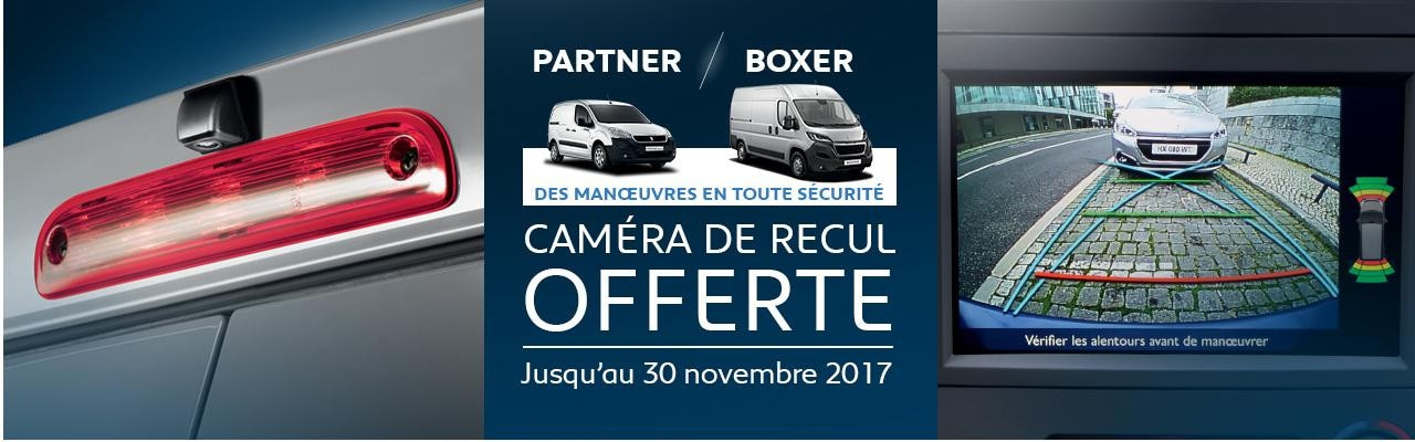 Camera de recul offerte Partner Boxer
