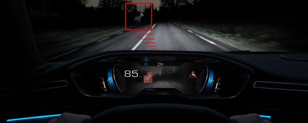 Technologie Night Vision, pour améliorer la vision de nuit - nouveau break PEUGEOT 508 SW pour les professionnels